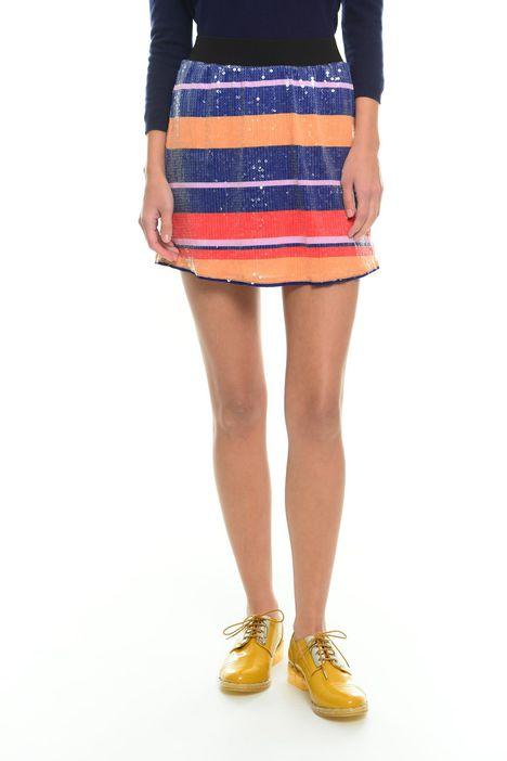 Minigonna con paillettes