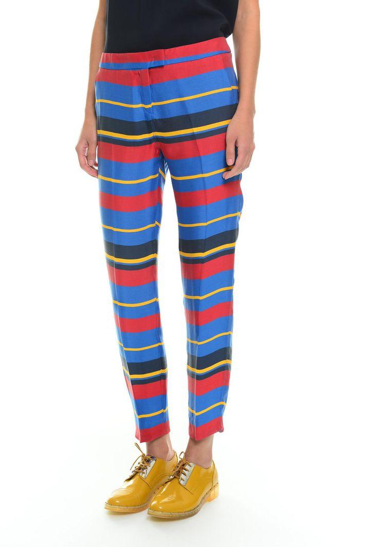 Pantaloni jacquard a righe