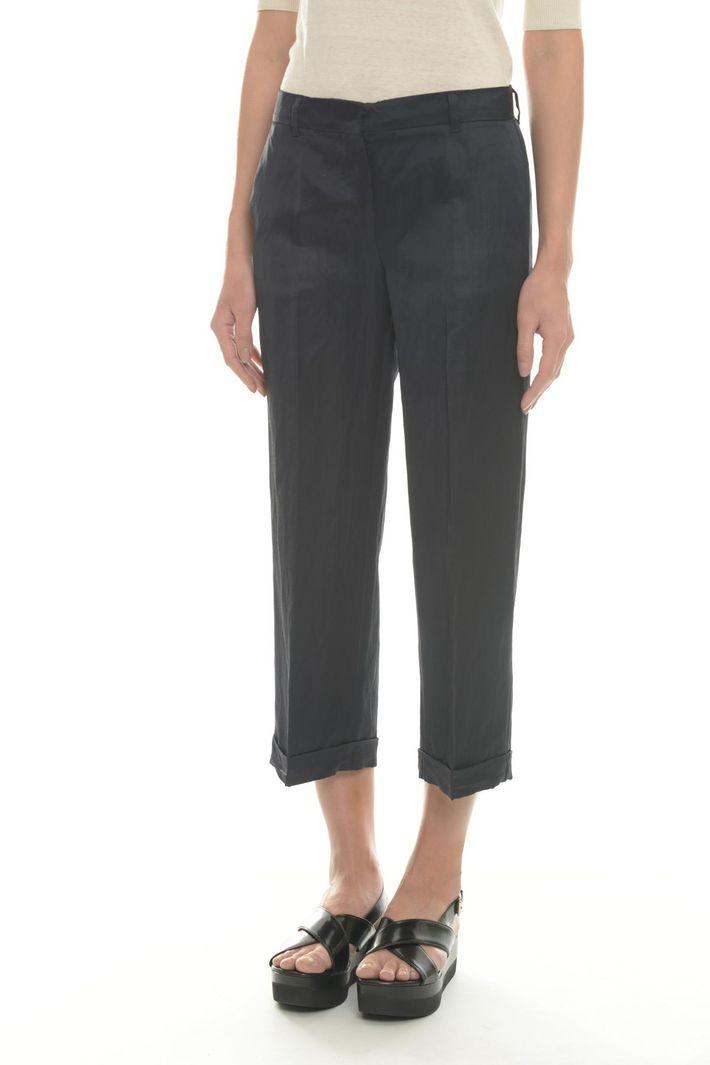Pantaloni dritti in viscosa