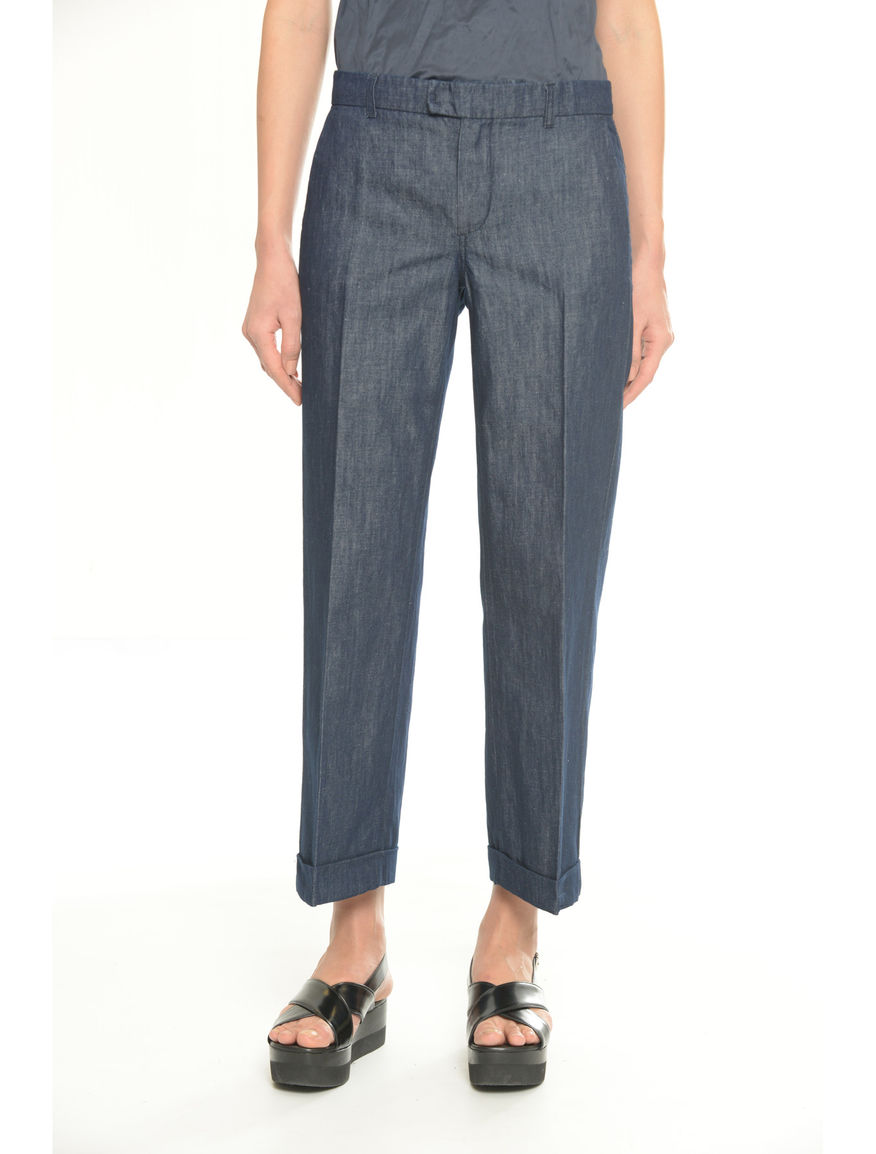 Pantaloni denim di cotone