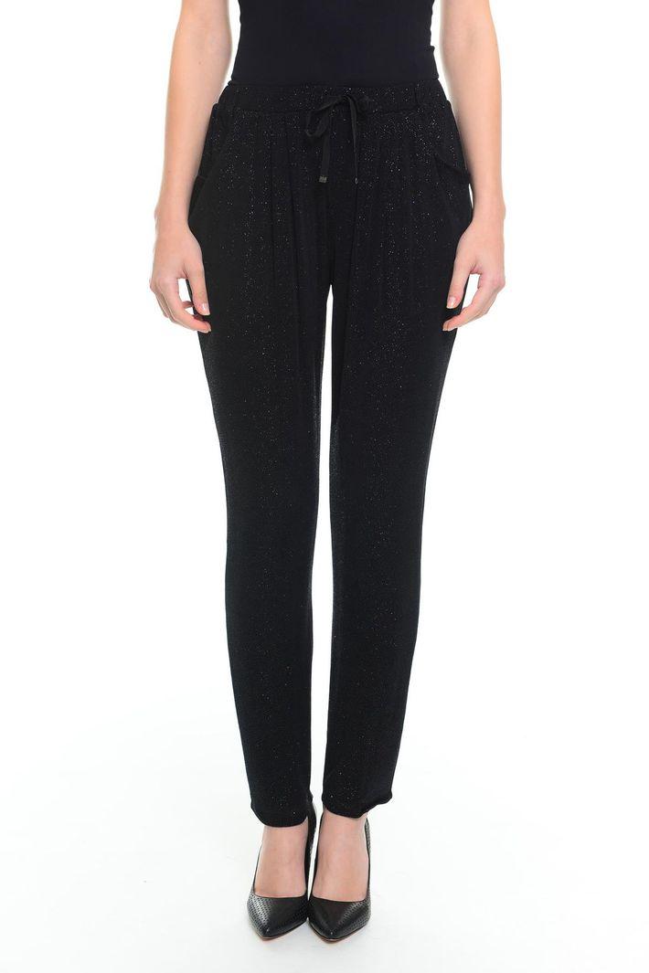Pantaloni con micro paillettes