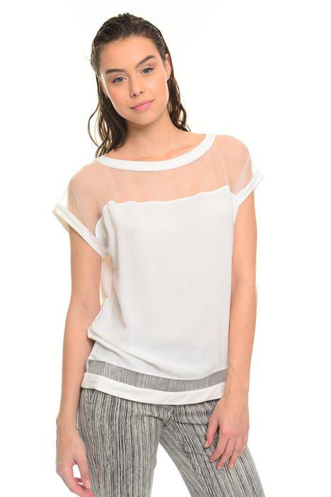 T-shirt in cotone e viscosa