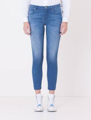 Jeans skinny effetto vintage chiaro
