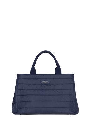 Nylon matelassé shopping bag