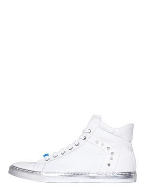 Sneakers di canvas con suola argento