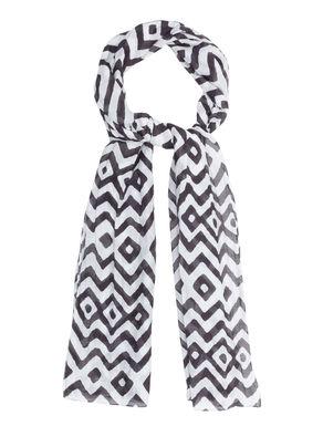 Sciarpa di seta/cotone stampato