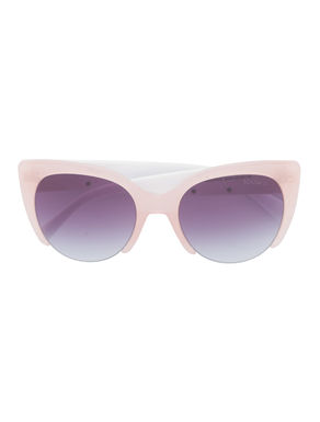 Cat-eye sunglasses with painting print