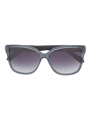Butterfly silhouette sunglasses with rubber temples
