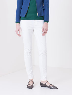 Pantaloni skinny di gabardine stretch