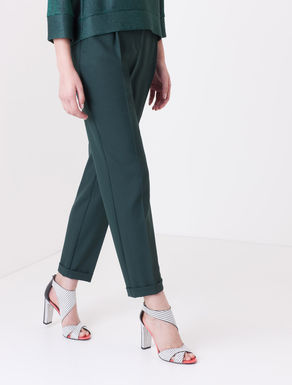 Pantaloni loose fit di tessuto crêpe