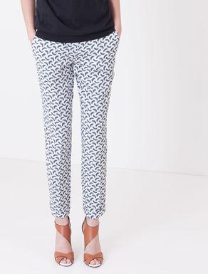 Pantaloni slim fit di twill stampato