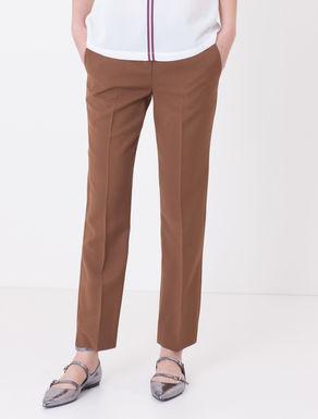 Pantaloni slim fit in cady di viscosa