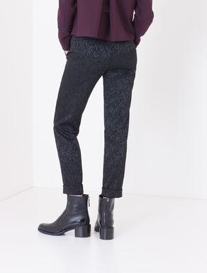 Pantaloni skinny fit jacquard