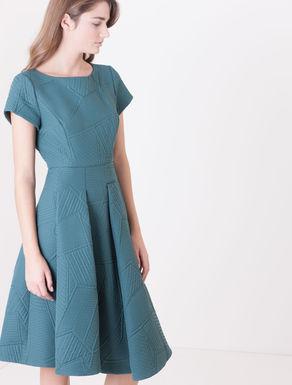 Corolla Dress di tessuto matelassé
