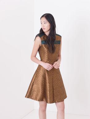 Corolla Dress jacquard disegno chevron