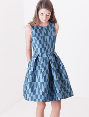 Corolla Dress jacquard geometrico