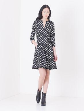 Corolla Dress jacquard grafico