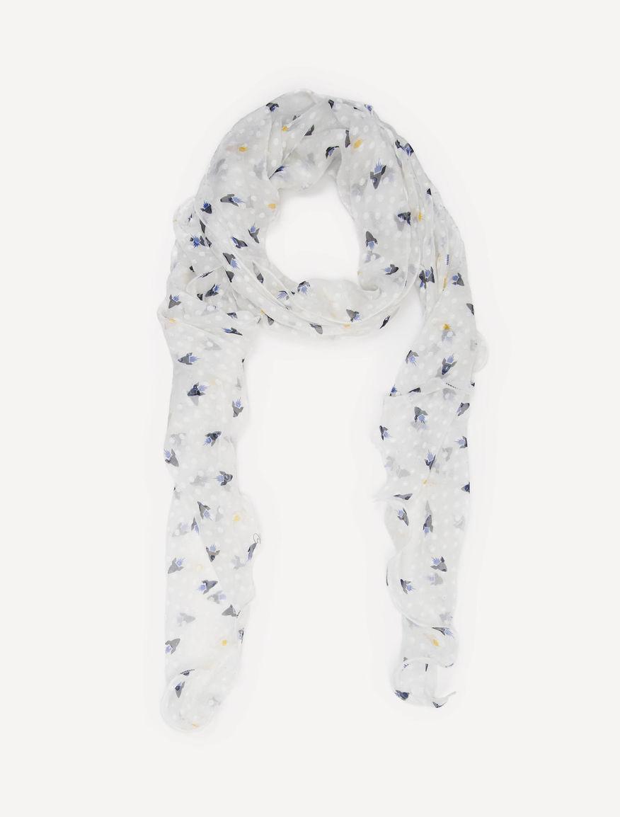 Écharpe en soie à fil coupé imprimée