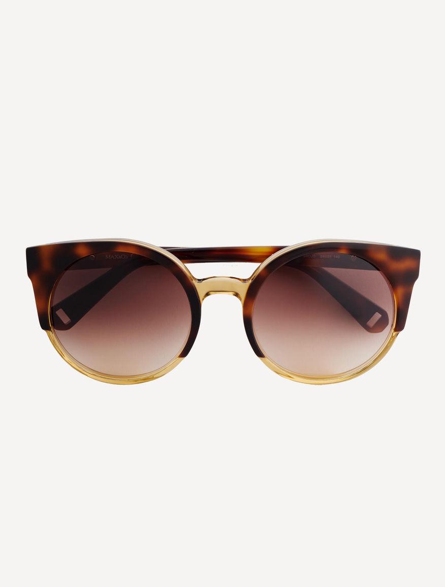 lunettes de soleil cat eye arrondies marron omografo max co. Black Bedroom Furniture Sets. Home Design Ideas