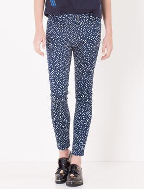Pantaloni skinny fit stampa pois