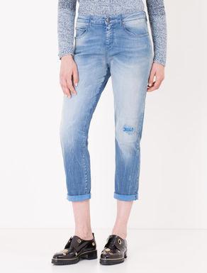 Jeans boyfriend colorato al rovescio