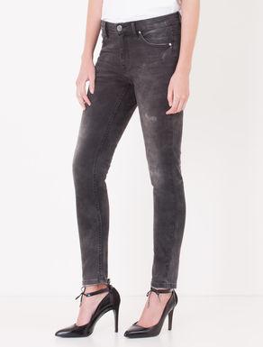 Jeans skinny fit nero con strappi