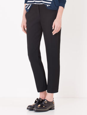 Pantaloni slim fit di tessuto double