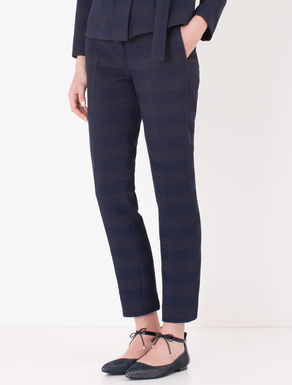 Pantaloni cocktail jacquard a righe
