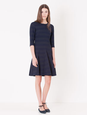 Corolla Dress jacquard a righe