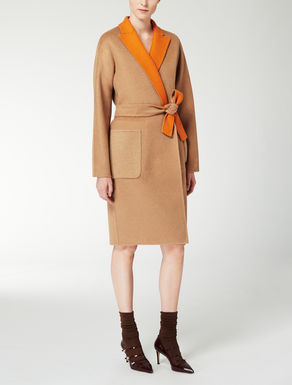 Reversible wool and camelhair coat