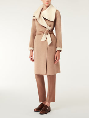 Reversible cashmere coat