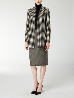 Reversible wool and cashmere jacket