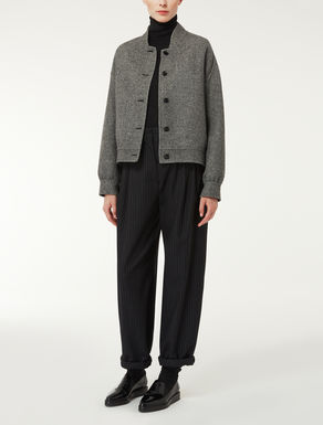 Wool and angora jacket