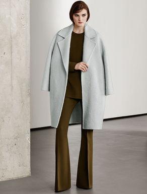 Mantel aus Wolle und Mohair