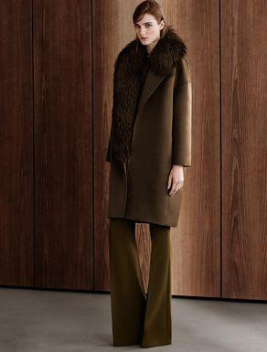 Silk blend coat