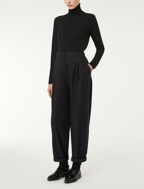 Oversized wool and silk trousers