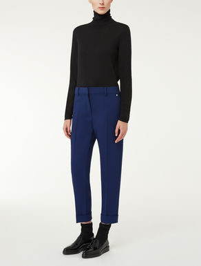 Wool crepe trousers