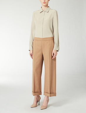 Oversized camel trousers
