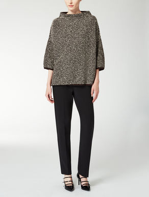 Boxy tweed knit shirt