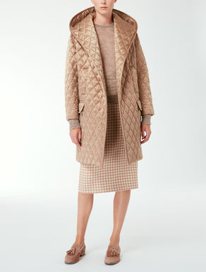 Quilted silk coat