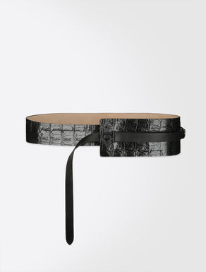 Nappa and leather belt