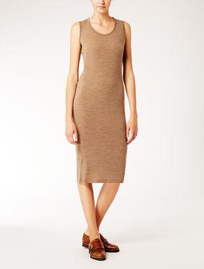 Stretch wool jersey dress