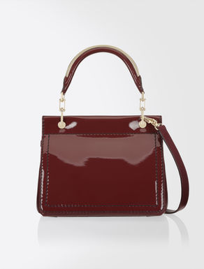 Patent and leather Venezia Bag