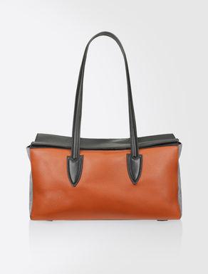 Leather box satchel
