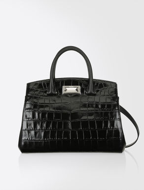 Hollywood bag in pelle stampata
