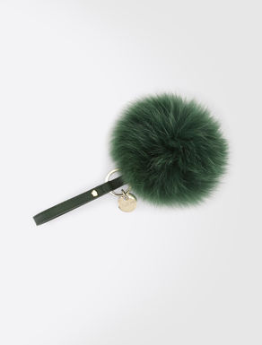 Fox fur keyring