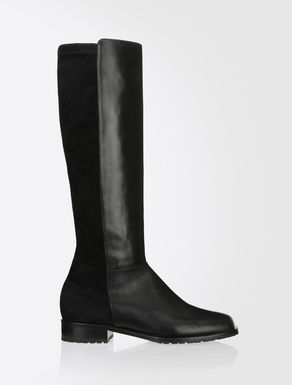 Nappa leather and suede boots
