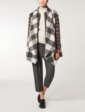 Padded jacket with shawl-style gilet