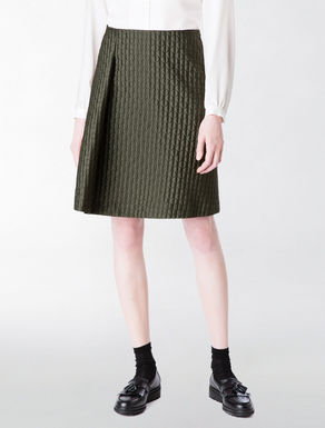 Quilted jacquard trapezium skirt