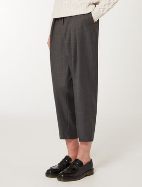 Masculine broadcloth trousers